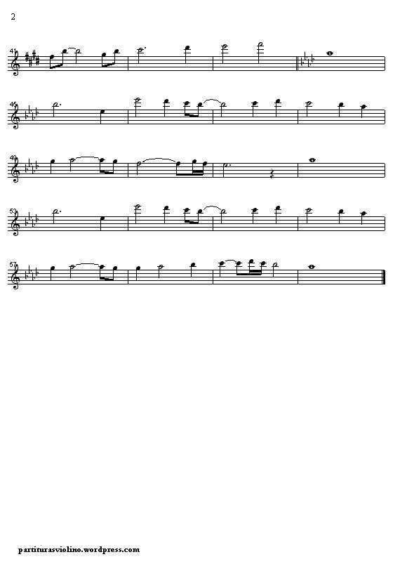 Partitura violino titanic