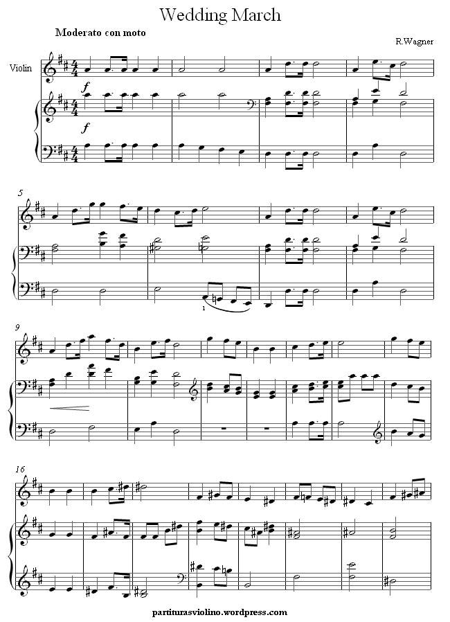 Partitura Marcha Nupcial Wagner